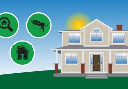 Save Energy & Money with Home Improvements infographic header image energy smart home improvement