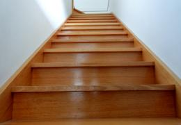 stairs to second floor of home