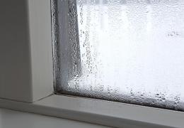 condensation on window of house