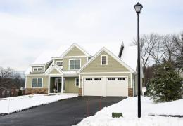 snowy winter home