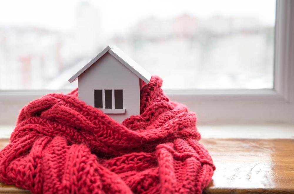 warm house in a scarf